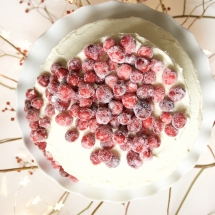 Cranberry Sponge Cake